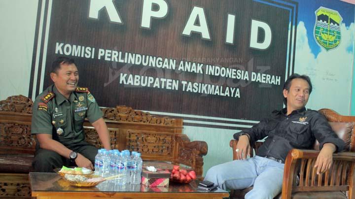 Koropak.co.id - Silaturahmi Ke KPAID, Dandim Diskusi Soal Penanganan Anak Punk  (2)