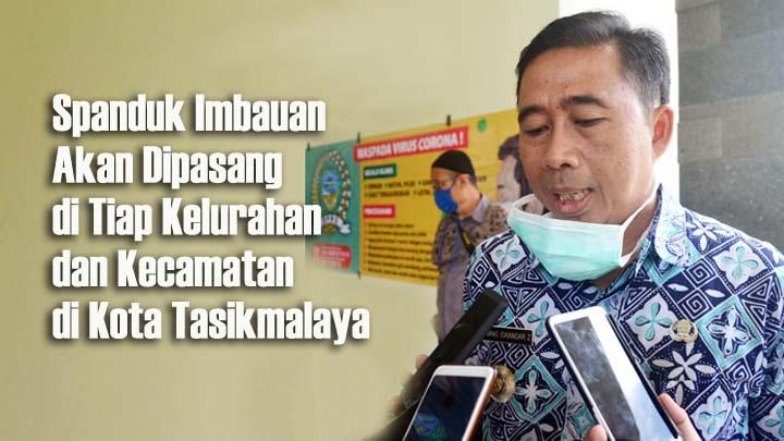 Koropak.co.id - Spanduk Imbauan Jadi Media Edukasi Warga Soal Pandemi Corona
