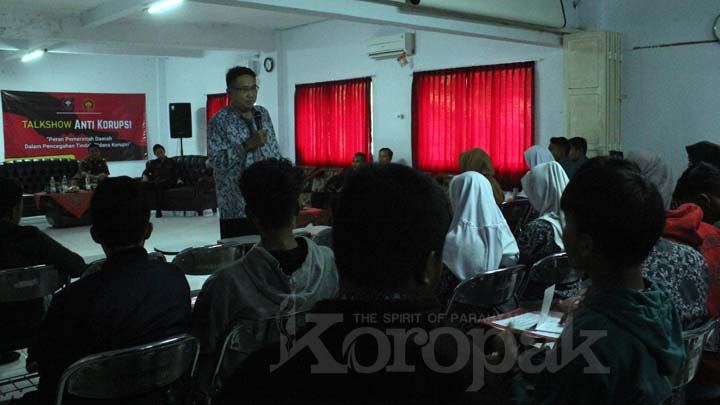 Koropak.co.id - Talkshow Anti Korupsi Tumbuhkan Kesadaran Mahasiswa