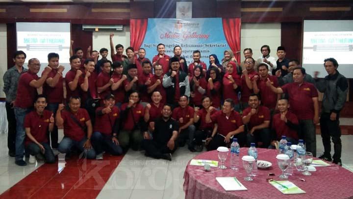 Koropak.co.id - Tasyakur Capaian Sukses, Bawaslu Ciamis Gelar Media Gathering (2)
