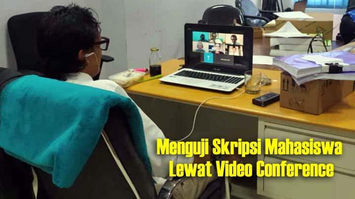 Koropak.co.id - Tetap Berkarya Di Tengah Wabah Corona, Gelar Sidang Skripsi Lewat Video Call
