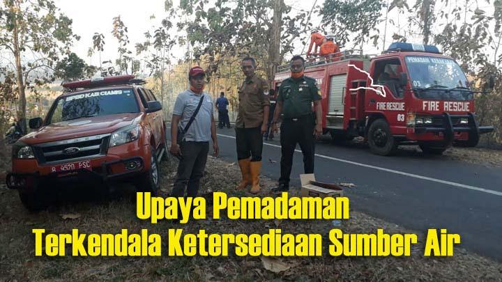Koropak.co.id - Tiga Hektare Hutan Perhutani di Pamarican Ciamis Terbakar (2)