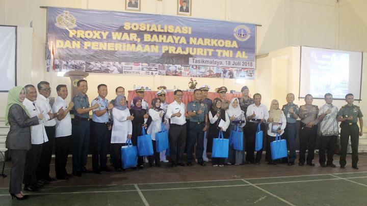 TNI AL Gelar Sosialisasi Proxy War, dan Bahaya Narkoba