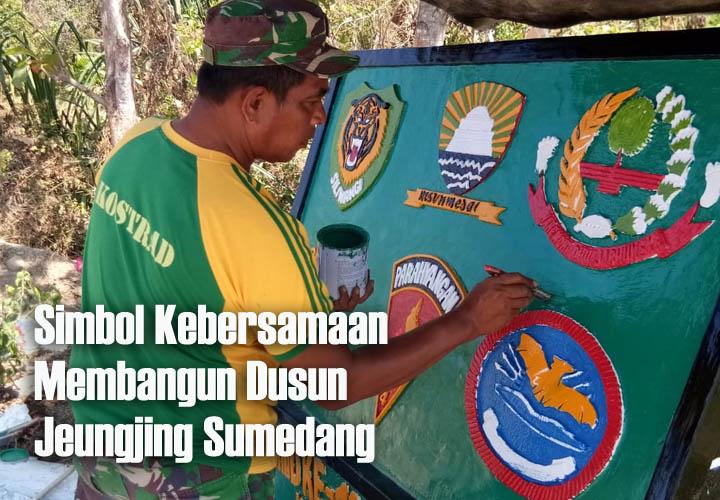 Koropak.co.id - TNI Bangun Prasasti, Ukir Kenangan TMMD ke-105 Sumedang Akan Segera Berakhir (2)