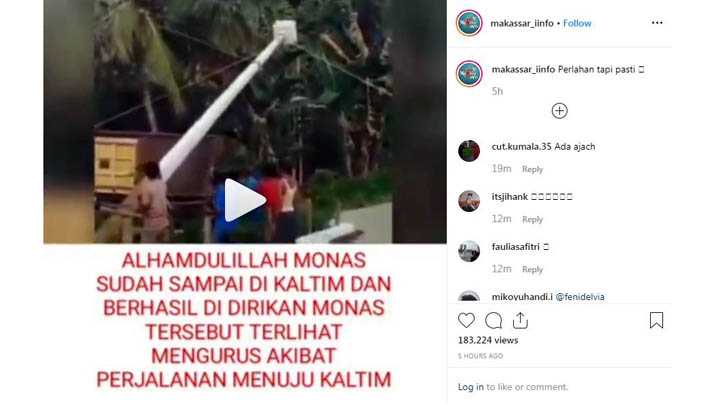 Koropak.co.id - Viral! Video Monas Pindah ke Tengah Hutan Lebat Kalimantan (2)