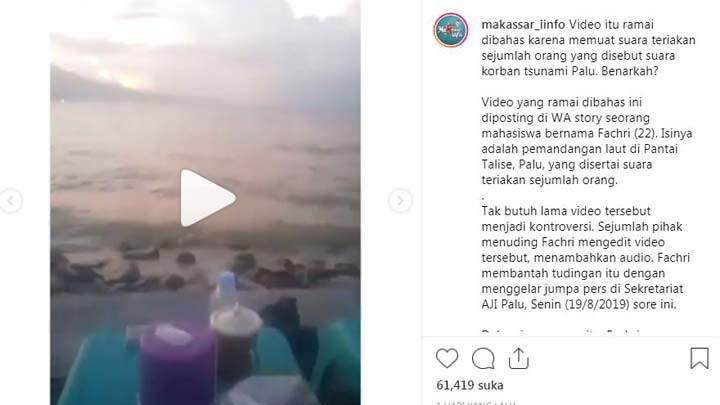 Koropak.co.id - Viral! Video Suara Teriakan Korban Tsunami Palu Hebohkan Netizen (2)