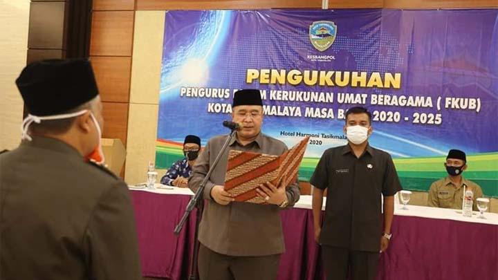 Koropak.co.id - Walikota Kukuhkan Kepengurusan FKUB Kota Tasikmalaya Masa Bakti 2020-2025