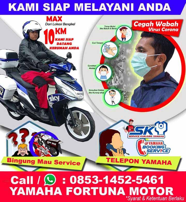 Koropak.co.id - Yamaha Fortuna Motor Tasikmalaya Dukung Program Di Rumah Saja