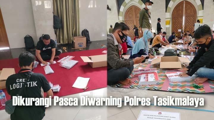 KPU Kabupaten Tasikmalaya, Sortir dan Lipat 1.368.156 Lembar Surat Suara