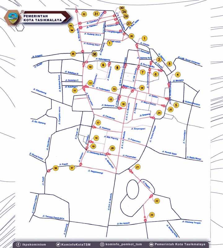 Malam Tahun Baru, 38 Titik Jalan di Kota Tasikmalaya Ditutup