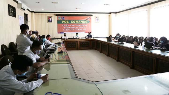 Pemkab Tasikmalaya Gelar Rakor Bersama Satgas Covid-19 Provinsi Jawa Barat (2)