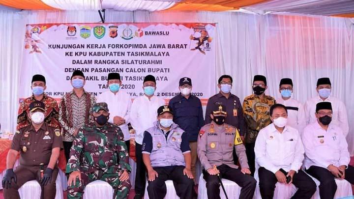 Pemkab Tasikmalaya Terima Kunjungan KPU dan Forkopimda Jabar (2)