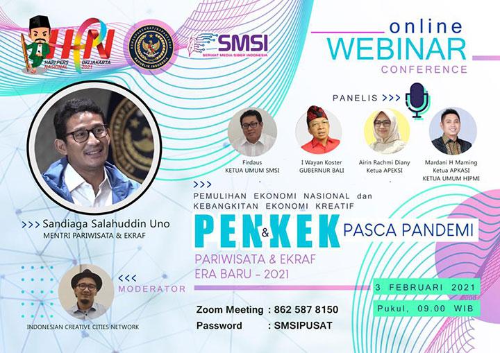 Peringati HPN 2021, SMSI Siap Gelar Seminar Nasional PENKEK