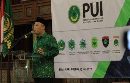 Ketua Umum DPW PUI Jabar, Engkos Kosasih menyatakan DPW PUI siap dukung Pilkada Jaba